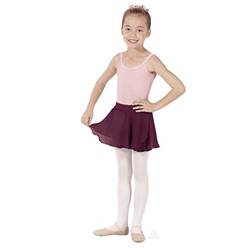 - Eurotard Girls Mock Wrap Skirt (Burgundy, Small) - 10127