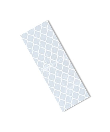 3M 3430 White Micro Prismatic Sheeting Reflective Tape - (Pack of 25) 1 (W) in. X 3 (L) Non-Metalized Adhesive Tape Strip. Safety Tape