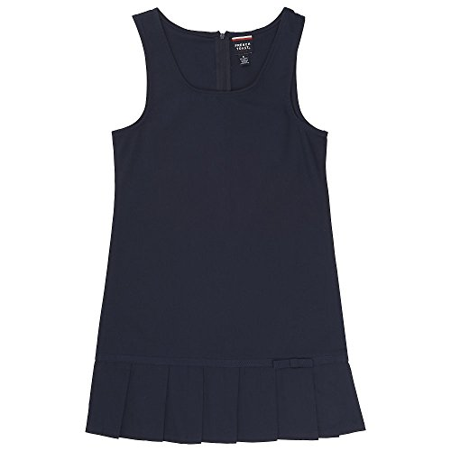 French Toast Big Girls' Pleated Hem Jumper with Ribbon, Navy, 18 by French Toast