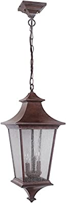 Craftmade Z1371-AG-LED Argent II Outdoor Pendant, 1 Light LED 17 Watts, Aged Bronze Textured