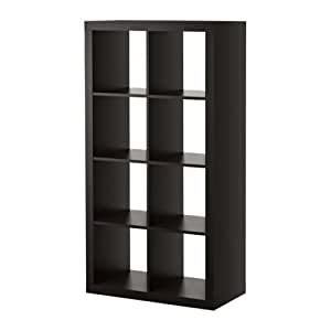 Ikea Kallax Bookcase Room Divider Cube Display, Black-Brown