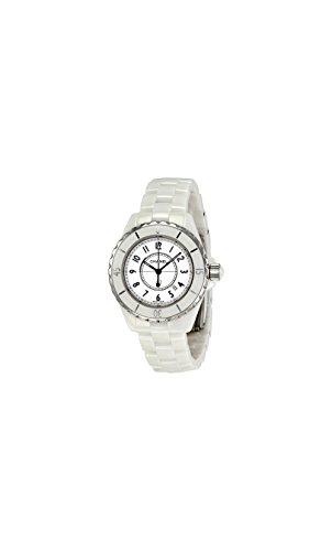 Chanel Women's H0968 J12 White Ceramic Bracelet Watch