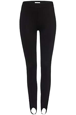 FIND Leggings con Estribo ´Fuseau' para Mujer , Negro (Schwarz), 36 (Talla del fabricante: X-Small)