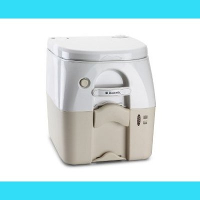 Dometic Portable Toilet 975 - 5 Gal. W/Hold Downs & MSD Fittings-Tan by Dometic Dometic 975 Portable Toilet
