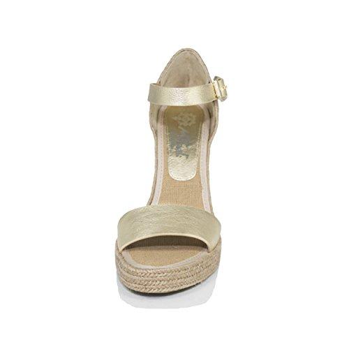 Platine Mtbali Oceanside Femme Espadrilles Modèle Sandales Compensées Gold ROzPvOSqY