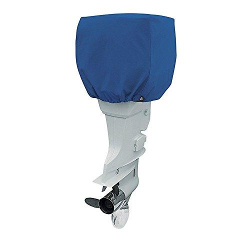 Evinrude Outboard Motor Engine (COCO Yacht Boat Engine Outboard Motor Cover Up to 115-225 Horsepower-Trailerable Heavy Duty Water, Mildew, and UV Resistant with Thick Polyester Fabric (Blue, 115-225))