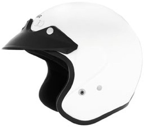 Cyber U-6 Open-Face Motorcycle Helmets - White - Small