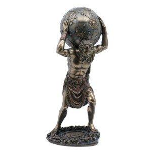 Pacific Giftware PTC 11.75 Inch Man with Atlas Globe Shrugged Resin Statue Figurine