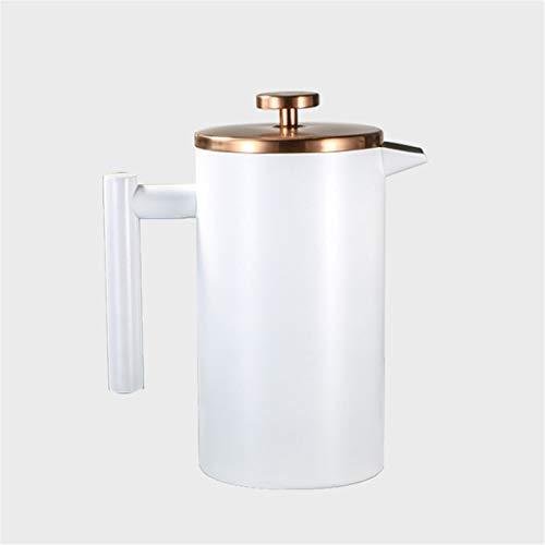 Cafetera De Émbolo Francesa,Tetera De Preparación Manual De Acero Inoxidable 304 Filtro De Doble Capa Cafetera De Prensa…