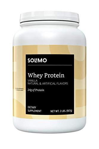 Amazon Brand – Solimo Whey Protein Powder, Vanilla,2 Pound (23 Servings)