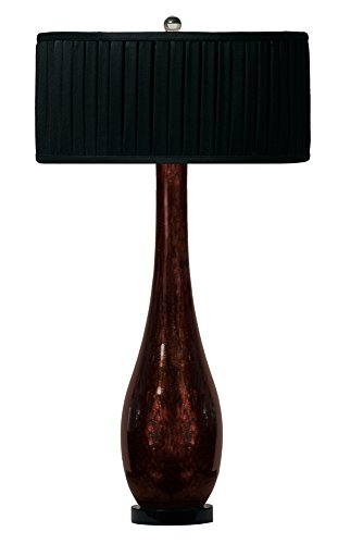 Thumprints 1002-C05-TL01 Black Beauty Table Lamp, Bronze Glitter Finish
