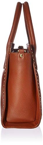 Satchel Top Zip Leather Studded Fix Medium The Cigar with Audrey PnqvFHxp