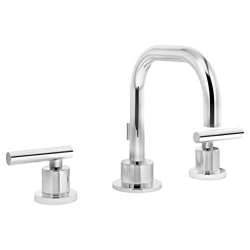 Symmons SLW-3512 Dia Widespread 2-Handle Bathroom Faucet with Drain Assembly in Polished Chrome (2.2 GPM)