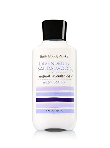 (Bath and Body Works Lavender and Sandalwood Body Lotion 8 Ounce Full Size Moisturizing Lotion)