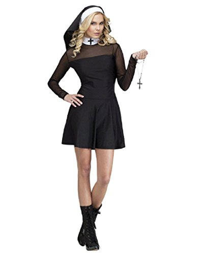Fun World Costumes Women's Sexy Sister Adult Costume, Black, -