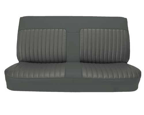 Bench Seat Upholstery (Acme U101-C628HR Front Charcoal Vinyl Bench Seat Upholstery with Charcoal Velour)