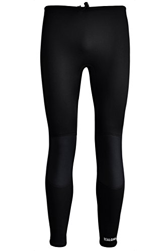 REALON Wetsuit Pants 3mm Neoprene Long Tights XSPAN Surf Leggings Suitable Men Women Diving Surfing Swim (Black - Swimming Skins In