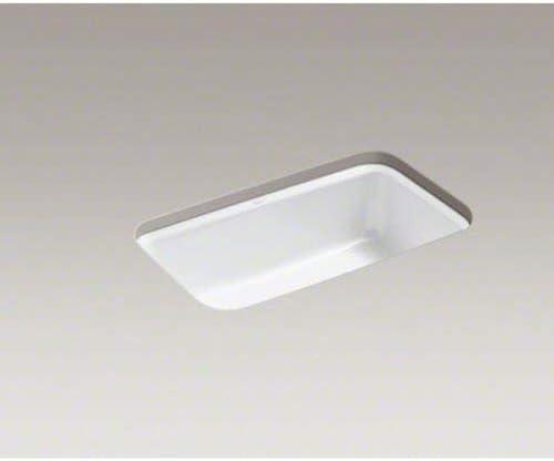 Kohler K-5832-5U-0 Bakersfield Undercounter Sink mit Installation Kit, White