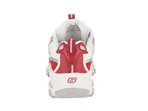 Skechers Sportive Dlites-nuovo Retrò Donne Sneaker Rosso-bianco