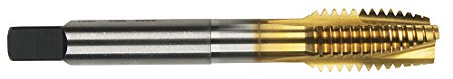 Morse Cutting Tools 94514 Spiral Point ShearTap, High-Speed Steel, Titanium Nitride Finish, Plug Type, H4 Pitch Diameter, 6 Flutes, 2-4-1/2''-5 Size by Morse Cutting Tools