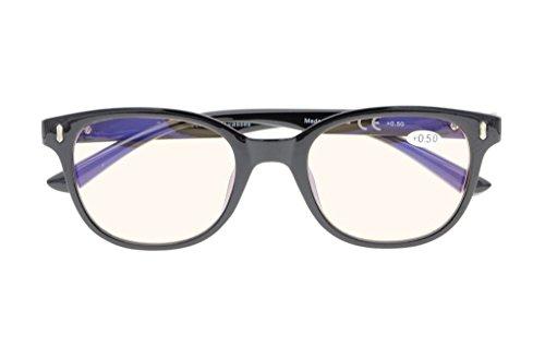 Blue Light Blocking,Reduce Eyestrain,UV Protection,180 Degree Spring Hinges Computer Gaming Reading Glasses