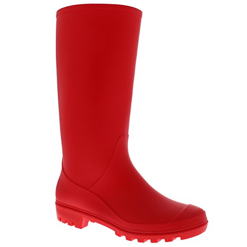 Botas Impermeable Invierno Rojo De Alto Nieve Botas Original Mujer Lluvia Estiércol Goma XHq770