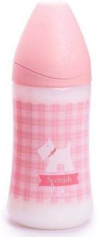 Tettarella anatomica lattice 6 mesi 270 ml Suavinex Biberon per beb/è 0/% BPA biberon 0 motivo pandaino taglia 1 flusso medio colore: rosa