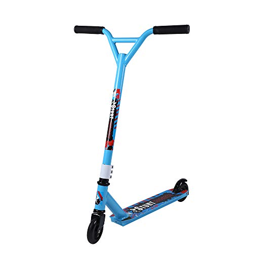 Rainbow Tree Stunt/Freestyle Scooter for Beginners/Amateurs BMX - Kids or Adults - Durable Custom Pro Scooter Supports up to 220 lbs