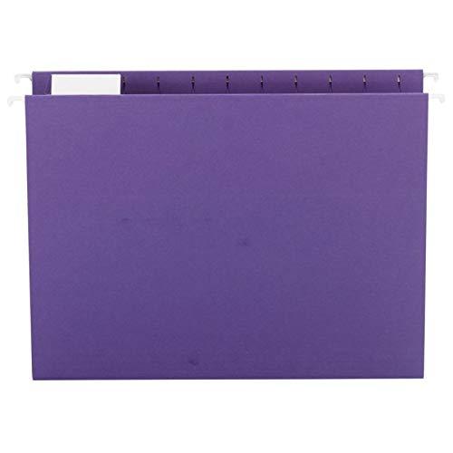 Smead Hanging File Folder, 1/5-Cut Adjustable Tab, Letter Size, Purple, 25 per Box (64072)
