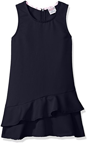 Genuine Girls' Dress Jumper (More Styles Available), Ruffle Hem Navy, 14