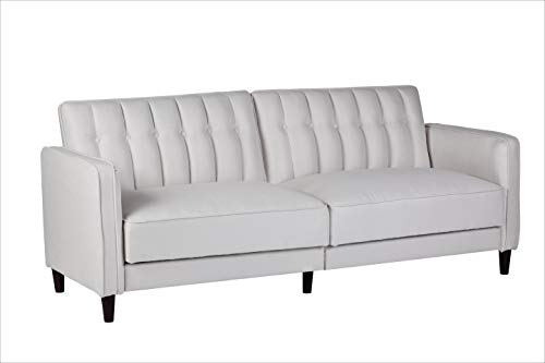 Container Furniture Direct SB-9035 Charlotte Mid Century Modern Tufted Convertible Sleeper Sofa, 81