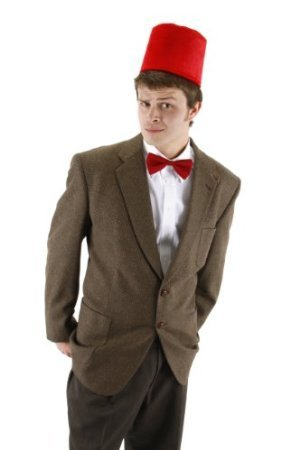 11th Doctor Costume Fez (11th Doctor Fez and Bowtie Set Costume Accessory Set)