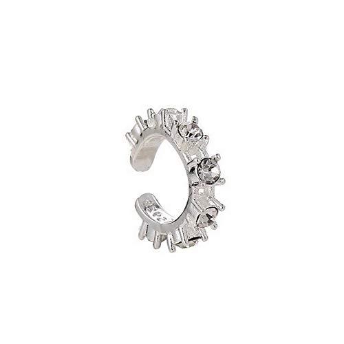 Dokis 2pcs Fashion Silver Ear Cuff Wrap Rhinestone Cartilage Clip Earring Non Piercing   Model ERRNGS - 16409  