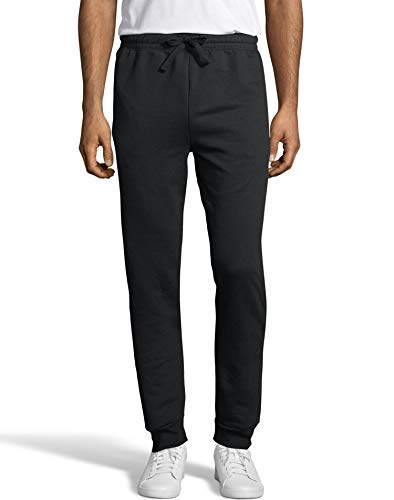 Hanes Men's Jogger Sweatpant with Pockets, Black, X Large