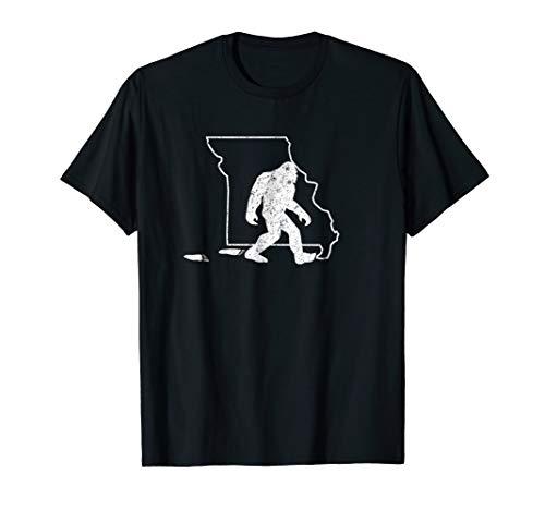 Missouri State Pride Vintage Bigfoot Hunter T Shirt
