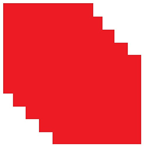 SISER EasyWeed Heat Transfer Vinyl HTV for T-Shirts 12 x 12 Inches 5 Precut Sheets (Red)