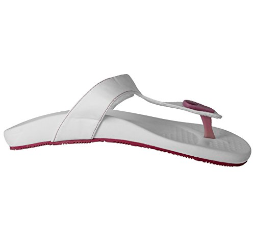 Ladies Mens SURF Eva/Quiva Toe Post Surf Flip Flop Flat Summer Beach Sandals Shoe Size 3-8 White/Pink 5vqg4dRMBF