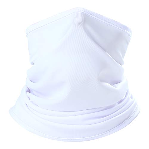 AXBXCX Lightweight Neck Gaiter Neck Warmer Face Mask Windproof Anti-UV Protection for Motorcycle Cycling Fishing Hunting Summer Outdoor Sports Suitable for Men Women Army White