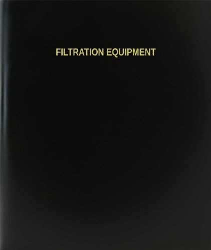 "BookFactory Filtration Equipment Log Book / Journal / Logbook - 120 Page, 8.5""x11"", Black Hardbound (XLog-120-7CS-A-L-Black(Filtration Equipment Log Book))"