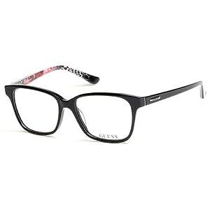 Guess Women's Eyeglasses GU2506 GU/2506 005 Black Full Rim Optical Frame 52mm