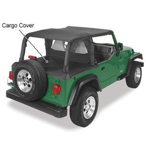 Pavement Ends by Bestop 41815-15 Black Denim Cargo Cover for 1992-1995 Wrangler YJ