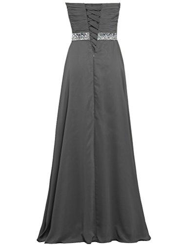 Longue Robes De Bal En Mousseline De Soie De Fourmis Féminin Gris Robe De Fête De Mariage
