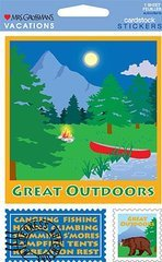 Great Outdoors Cardstock Scrapbook Stickers (31363)
