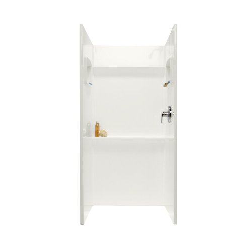 Swanstone SA-3636-018 Solid Surface 3 Panel Shower Side a...