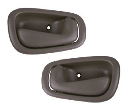 1998-2003 Toyota Corolla, Chevy/Chevrolet Prizm Gray Grey Front OR Rear Inside Inner Interior Door Handles Pair Set Left Driver AND Right Passenger Side (1998 98 1999 99 2000 00 2001 01 2002 02 2003 03)