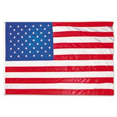 All-Weather Outdoor U.s. Flag, Heavyweight Nylon, 4 Ft. X 6 Ft. By: Advantus