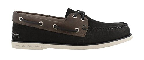 Leather O Negro A 2 de Cuero para Hombre 0195214 2 Eye Sperry Mocasines IaxgOI