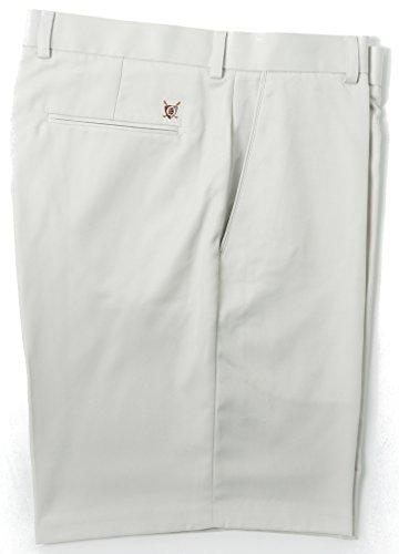 Oxford Men's Flat Front Short, 38, Stone