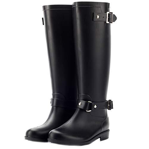 - Women Shoes Heels Black Women Low-Heeled Buckle Shoe Rain Boots