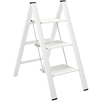 Surprising Hasegawa Ladders Ml2 0 4Wh Lucano Stepladder White 4 Step Caraccident5 Cool Chair Designs And Ideas Caraccident5Info